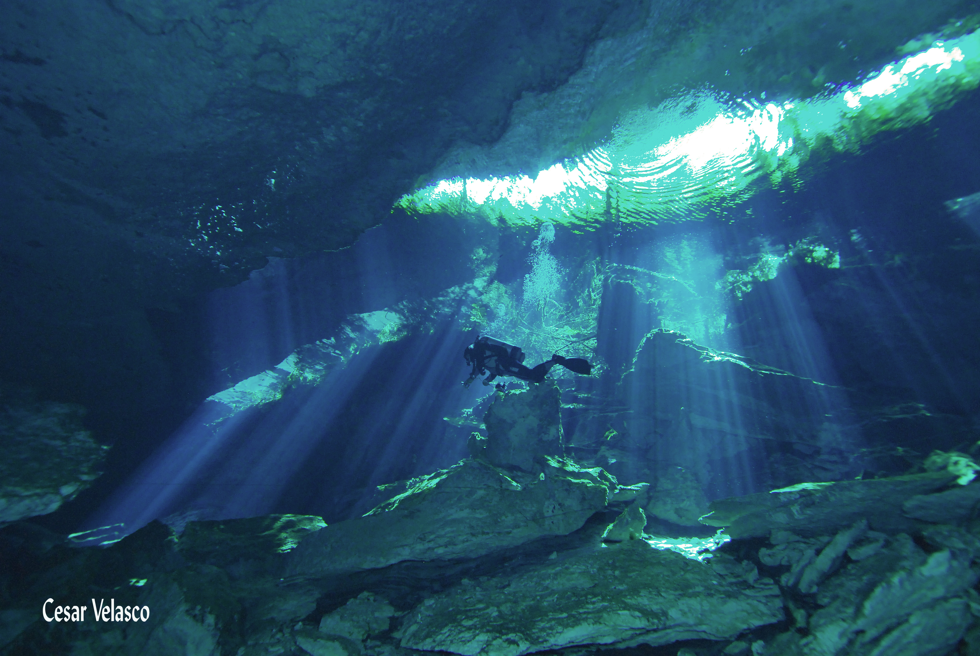 Cavern ing and cave ing in cenote chac mool cenotes riviera